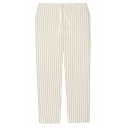 Stripe Drawstring Waist Relaxed Straight Pants