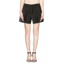 Jacquard Layered Zipper Fly Fitted Shorts
