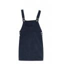 Plain Zipper Pockets Fitted Tweed Pencil Dress