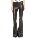 Fashion Double Pocket Back Boot Cut Pants