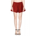 Plain High Waist Pleated Short with Zipper Fly