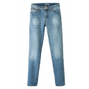 Skinny Regular Rise Light Wash Jean with Zipper Fly