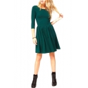 Half Sleeve Simplicity Short Skater Dress
