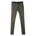 Water-Drop Pattern Skinny Pants with Zipper Fly