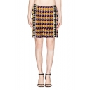 Colorful Geometrical Pattern Knitted Wrap Short Skirt