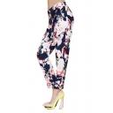 Vintage Flower Print Harem Ankle Pants