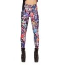 Cartoon Character Print Mid Rise Skinny Fitted Leggings
