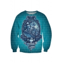 Ninja Turtles Print Blue Sweatshirt