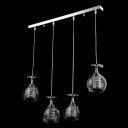 Sparkling and Elegant Bar Base Four Globes Multi-light Pendent Lighting Fixture