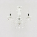White Chic 3-Light Crystal Chains and Drops Lovely Mini Chandelier