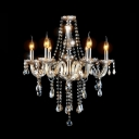 Sparkling Crystal Glass Centerpiece and Curved Arms 21.6