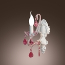 Decorate Your Room with Charming Antique White Crystal Single Light Wall Sconce