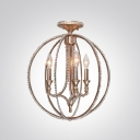 Distinctive Sphere Design with Clear Beady Crystal Add Glamour to Splendid Unique Chandelier