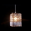 Shimmering Clear Crystal Carefully Arranged Add Glamour to Contemporary Breathtaking Mini Pendant Light