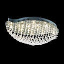 Enchanting Flushmount Ceiling Fixture with Distinctive Design and Crystal Makes Graceful Flair