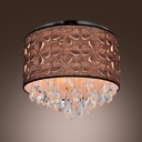 Brown Fabric Shade 5-Light 15.7