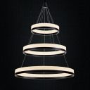 Three Tiers Modern Concise LED Round Pendant