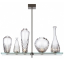 "17.1""Wide 5-Light Etched Glass Vase Designer Island Lighting"