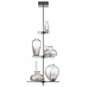 Bold and Modern Three Tiers Etched Glass Vase Designer Island Lighting