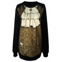 Vintage Court Dress Print Sweatshirt
