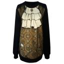 Vintage Court Dress Print Sweatshirt