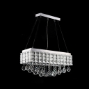 Complex Geometry and Unique Forms Pendant Light with Custom Made Crystal Drops Give Elegant Look