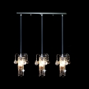Warm Lighting Surrounded by Clear Crystal Add Charm to Sparkling Multi Light Pendant