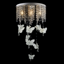 Lovely Angles Droplets and Crystal Beaded Strands Dropped Romantic and Beautiful Flush Mount Lights