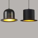 "Lovely And BeautifulHat Shaped Designer Pendant Lighting 11.8""Wide Black"