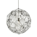 Globe Diamond Grey Etch Web Pendant Light