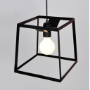 "Graceful and Chic Wrought Iron Cube Cage 9.8""Wide Designer Mini Pendant Lighting"