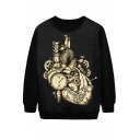 Mechanical watch Print Sweatshirt