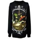 Vintage Mirror&Table Print Sweatshirt