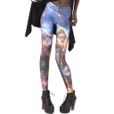 Beautiful Starry Sky Tie Dye Pattern Fashion Leggings