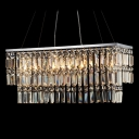 Golden Shadow Large Crystal Chandelier Brightens Any Room with Jewelry-like Design
