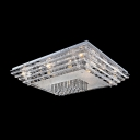 Rectangular Clear Crystal Glass Shade 17.7