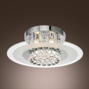 Elegantly Rounded Cluster of Crystal Spheres Brilliant Design Flush Mount Lights
