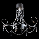 Metal Curved Arms Hanging Stunning Crystal Strands 19.6