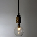 Bullet Bulb Industry LED Ceiling Pendant with Black Cord