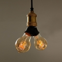Industrial Bronze 2 Light LED Cluster Chandelier