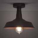 10'' Wide Rust 1 Light Semi Flush Ceiling Fixture