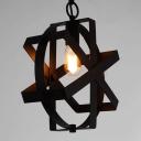 Vintage Bronze Reel 1 Light Steel LED Pendant