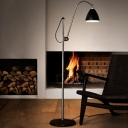 Swing Arm Design Elegant Shaded Floor Lamps in Designer Style