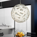 Resin Whimsical Style Hollow-out Ball Suspension Pendant Light