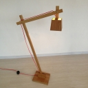All Wood Adjustable Designer Table Lamp in Natural Style
