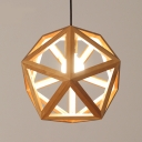 Novelty and Chic Wood Cage Large Designer Pendant Lighting