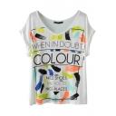 Colorful Graffiti Letter Print T-Shirt