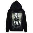 Blood Tears Monroe Print Hoodie with Long Sleeve