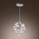 Beautiful One Light Large Pendant Adorned with Glistening Clear Crystal Balls