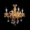 Slender Candelabra Lights Illuminate Contemporary Stunning Crystal Chandelier